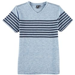 Ocean Current Big Boys Heather Stripe V-Neck T-Shirt