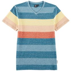 Ocean Current Big Boys Striped Heather V-Neck T-Shirt