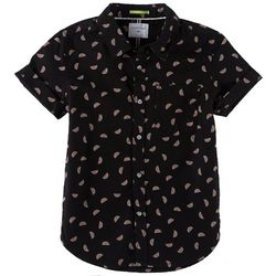 Cactus Boys Big Boys Watermelon Button Down Polo Shirt