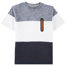 Distortion Big Boys Colorblock Zipper Pocket T-Shirt