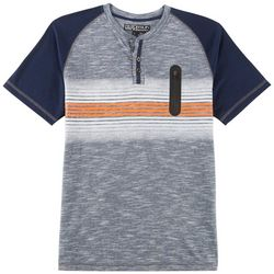 Distortion Big Boys Stripe Zipper Pocket T-Shirt