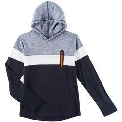 Distortion Big Boys Colorblocked Zip Pocket Hooded T-Shirt