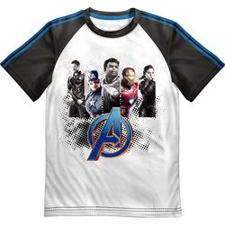 Marvel Avengers Little Boys Avengers Team Graphic T-Shirt
