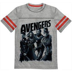 Marvel Avengers Little Boys Avengers Stripe Sleeve T-Shirt