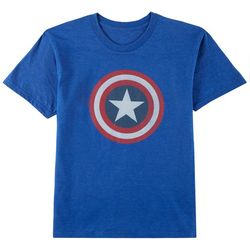 Marvel Avengers Big Boys Captain America Logo T-Shirt