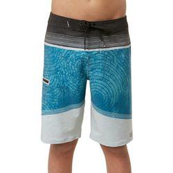O'Neill Big Boys Hyperfreak Aqua Print Boardshorts