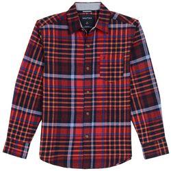 Nautica Big Boys Madras Plaid Flannel Long Sleeve Shirt