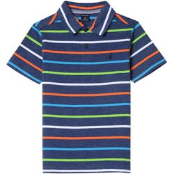 Nautica Big Boys Clarence Heathered Stripe Polo Shirt