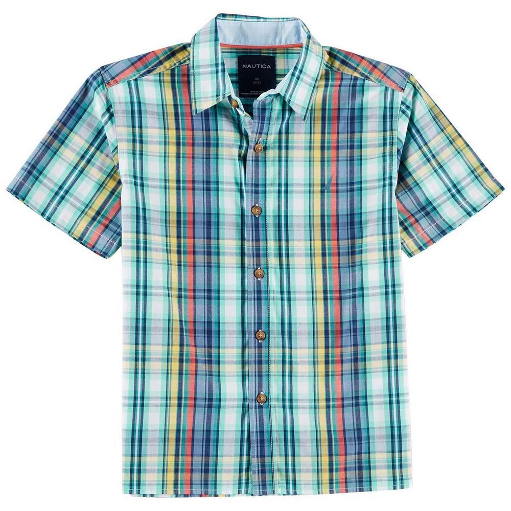 Nautica Big Boys Plaid Button Down Shirt Bealls Florida