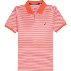 Nautica Big Boys Striped Print Polo Shirt