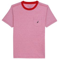 Nautica Big Boys Heathered Chest Pocket T-Shirt
