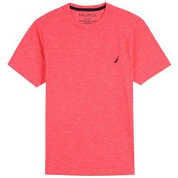 Nautica Big Boys Heathered Crew Neck T-Shirt
