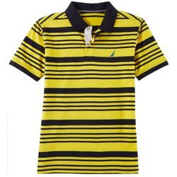 Nautica Big Boys Horizontal Striped Print Polo Shirt