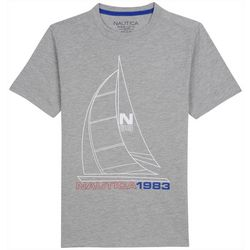 Nautica Big Boys Heathered Chip T-Shirt