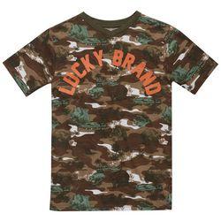 Lucky Brand Big Boys Camo Bear V-Neck T-Shirt