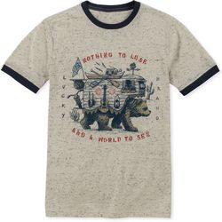 Lucky Brand Big Boys Nothing To Lose Bear T-Shirt