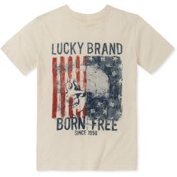 Lucky Brand Big Boys Born Free Skull T-Shirt