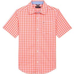 Nautica Big Boys Check Woven Short Sleeve Shirt