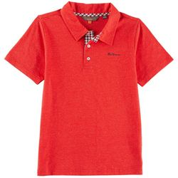 Ben Sherman Big Boys Heather Polo Shirt