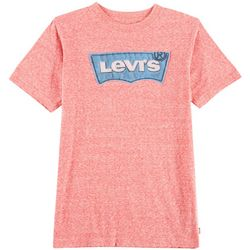 Levi's Big Boys Heathered Distressed Logo T-Shirt