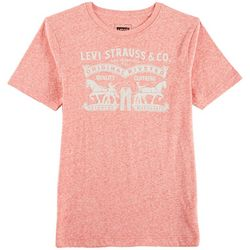 Levi's Big Boys Heathered Horse Logo T-Shirt