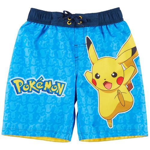 59948512ae Dreamwave Pokemon Little Boys Pikachu Swim Shorts | Bealls Florida