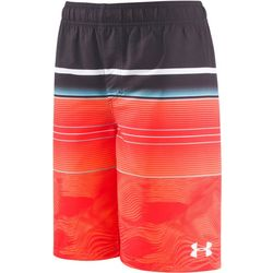 Under Armour Big Boys Stripe Volley Swim Trunks