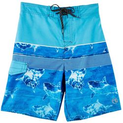 Ocean Current Big Boys Shark Boardshorts