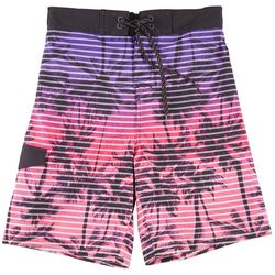 Ocean Current Big Boys Palm Tree Stripe Boardshorts