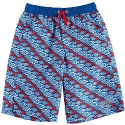 Surfer Zone Big Boys Americana Fish Swim Shorts