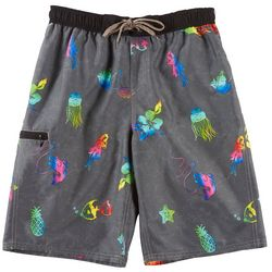 Burnside Big Boys Aloha Multi Boardshorts