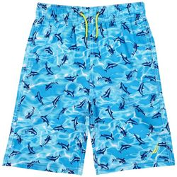 Nautica Big Boys Mano Shark Swim Shorts