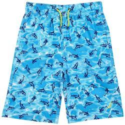 Nautica Big Boys Mano Shark Swim Shorts
