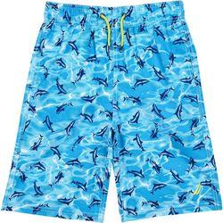 Nautica Little Boys Mano Shark Swim Shorts