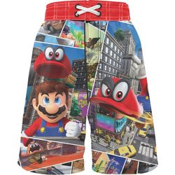 Mario Little Boys Graphic Swim Shorts