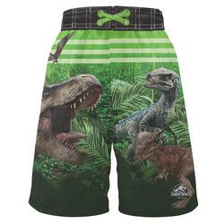 Jurassic World Little Boys Dinosaur Forest Swim Shorts