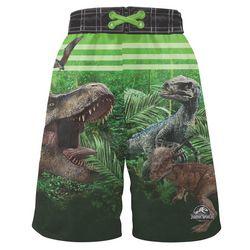 b88c613e53 Jurassic World Little Boys Dinosaur Forest Swim Shorts