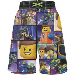 Lego Movie Little Boys Panel Graphic Swim Shorts