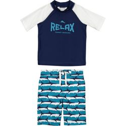 Tommy Bahama Little Boys 2-pc. Relax Shark Swim Set
