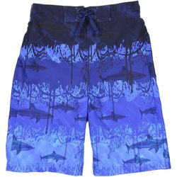 Tommy Bahama Big Boys Shark Print Swimtrunks