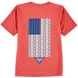 Columbia Big Boys PFG Americana Scale T-Shirt
