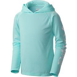 Columbia Big Boys PFG Terminal Tackle Solid Hoodie Shirt