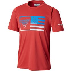 Columbia Big Boys PFG Stamp Short Sleeve T-Shirt