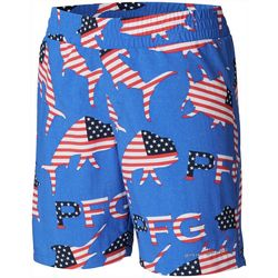 Columbia Big Boys PFG Super Backcast Americana Swim Shorts