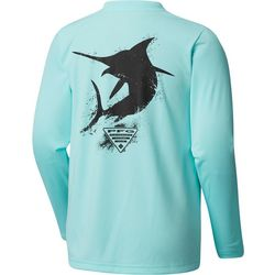 Columbia Big Boys PFG Marlin Long Sleeve T-Shirt