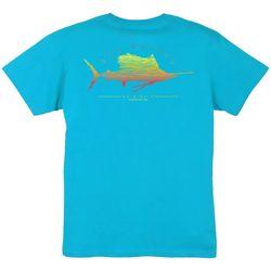 Guy Harvey Big Boys Sailfish Scribble Crew T-Shirt