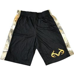 Realtree Big Boys Camo Side Shorts