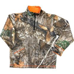 Realtree Big Boy Camo Quarter Zip Pullover Jacket