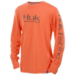 Huk Big Boys Icon Long Sleeve T-Shirt