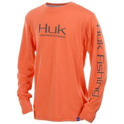 Huk Big Boys Icon Long Sleeve T-Shirt